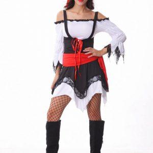 ハロウィン カリビアン キャプテン ジャックス ハロウィン ワンピース コスプレ 大人用 海賊 船長 レディース 仮装 イベント 舞台衣装 女性用 コスプレ衣装 女海賊 変装 パイレーツ ステージ衣装-Halloween-trw0725-0312