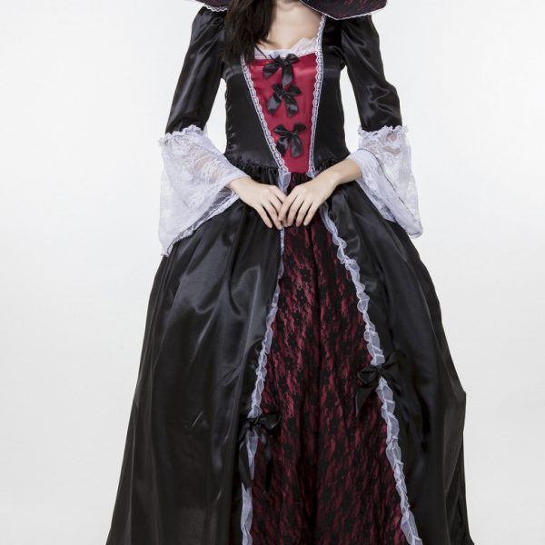 Vampire Costumes ハロウィン コスチューム 悪魔 吸血鬼 ヴァンパイア 鬼魔女 巫女 大人用 パーティー服-Halloween-trw0725-0313 1