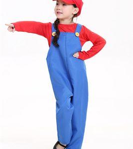コスプレ衣装 大人 家族 子供 ハロウィン マリオ ルイージ ワリオ ファミリ スーパーマリオ Halloween サスペンダー ピーチ姫 スーパーマリオブラザーズ Mario Costume-Halloween-trw0725-0314