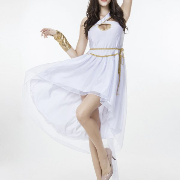 Greek Goddess ホワイト  ギリシャの女神  ドレス cosplay服 ハロウィン -Halloween-trw0725-0329 1