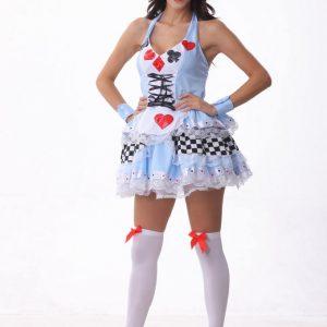 タロット 衣装 不思議の国のアリス  ハロウィン メイド 高品質 可愛い-Halloween-trw0725-0332