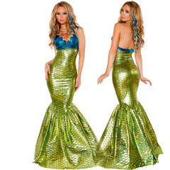 コスプレ 衣装 ハロウイン 仮装 ドレス ワンピース 人魚姫 リトル・マーメイド コスチューム-Halloween-trw0725-0335