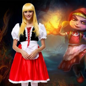 ハロウィン 仮装パーティー  キッズ 赤ずきん 童話 可愛い コスプレ衣装-Halloween-trw0725-0356