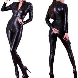 ジャンプスーツ コスプレやハロウィンに全身タイツ!女王様 コスプレ 衣装-Halloween-trw0725-0361