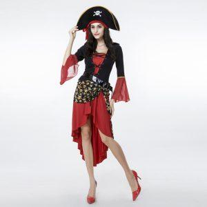 新作 ハロウィン パイレーツオブカリビアン 女性用 ステージ衣装 舞台衣装 大人用 海賊 コスチューム-Halloween-trw0725-0369