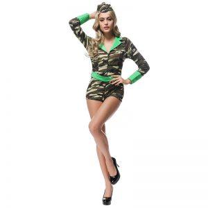 陸軍 ミリタリー  制服 迷彩 コスプレ衣装 パーティー ハロウィン-Halloween-trw0725-0371