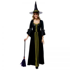 魔女 ハロウィン ドレス 仮装パーティー ナイトクラブ コスプレ衣装 cosplay-Halloween-trw0725-0376