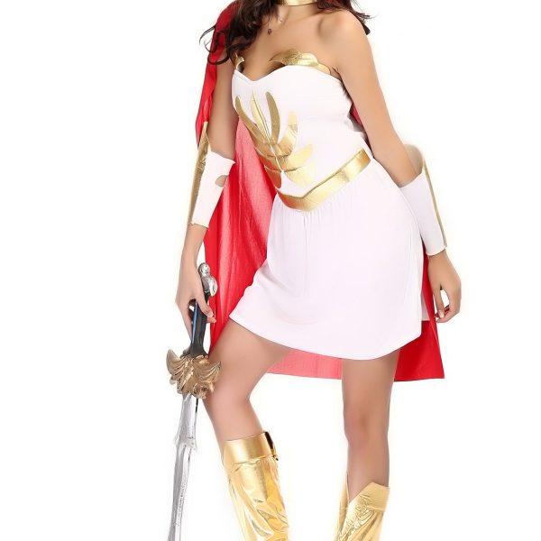 エジプト 戦士 女性 Greek Goddess  ハロウィン cosplay ゲームの服 コスプレ-Halloween-trw0725-0386 1
