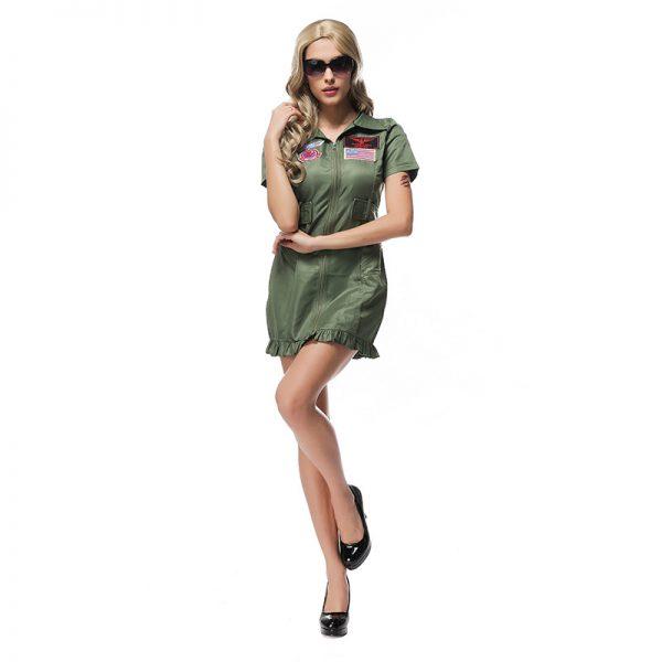 舞台演出服 制服 女性用 ハロウィン cosplay スチュワーデス-Halloween-trw0725-0392 1