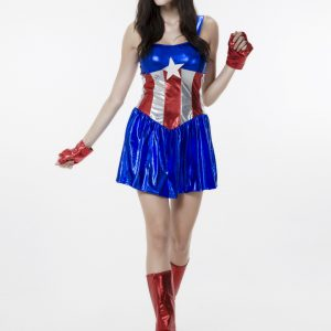 Halloween マーベルヒーロ コスプレ アベンジャーズ 映画 ハロウィン キャプテン アメリカに変身♪ Captain America セクシー 誘惑 スパイ-Halloween-trw0725-0396