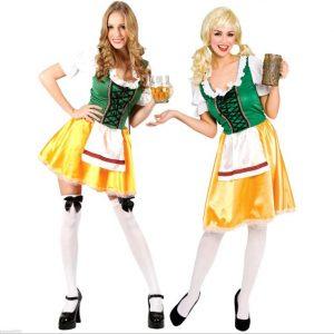 オクトーバーフェスト ハロウィン コスプレ衣装 大人用 cosplay 民族風  メイド服-Halloween-trw0725-0398