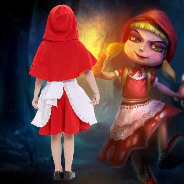 世界の童話・昔話 赤ずきんchan エプロン  ワンピース ハロウィン/衣装 子供-Halloween-trw0725-0403 1