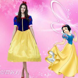 Snow White ディズニー ホワイト 雪プリンセス ハロウィン  ホワイト 豪華なセクシー白雪姫の衣装 コスプレ -Halloween-trw0725-0429