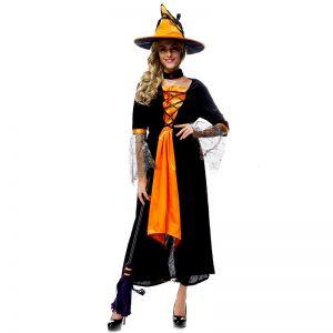ハロウィン 大人用 魔女 コスプレ衣装 舞台演出服 新作 ナイトクラブ パーティー-Halloween-trw0725-0435