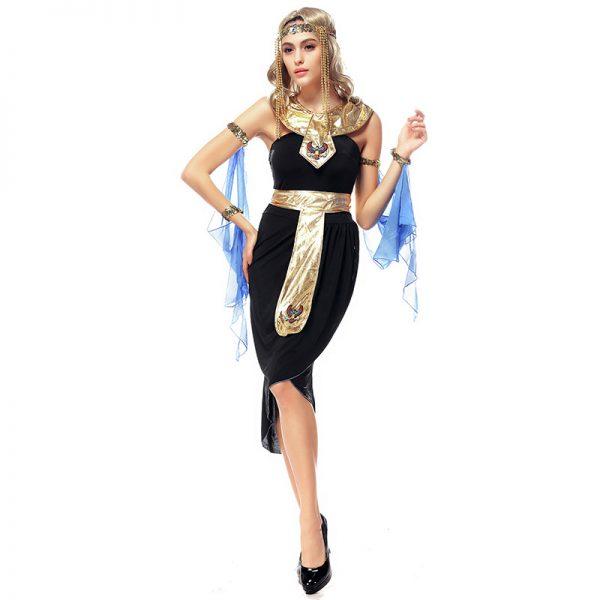 クレオパトラ 大人用 レディス 女性用 エジプト 古代エジプト 女神 ハロウィン コスチューム コスプレ 衣装 変装 仮装-Halloween-trw0725-0442 1