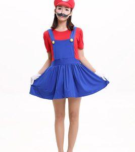 コスプレでゲームの世界へ!スーパーマリオ&ルイージ パーティグッズ キャップ コスプレ 衣装 付け髭 マリオ風 コスチューム cosplay-Halloween-trw0725-0451