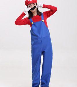 コスプレでゲームの世界へ!スーパーマリオ&ルイージ パーティグッズ キャップ コスプレ 衣装 付け髭 マリオ風 コスチューム cosplay-Halloween-trw0725-0453