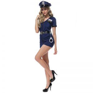 コスプレ ポリス ハロウィン 衣装 コスチューム 警官 婦警 警察官 ハロウィーン 制服 仮装 コスプレ衣装 ミニスカ-Halloween-trw0725-0458