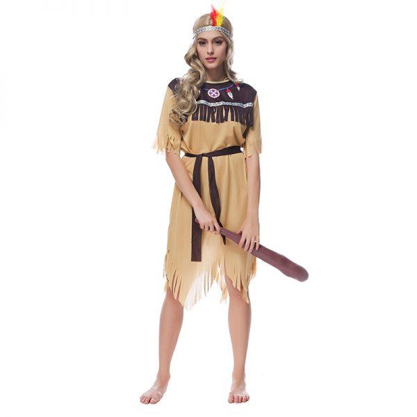 インディアン 民族 コスプレ コスチューム 衣装 ヘッドレス アメリカン先住民族 コスプレ 髪飾り 羽 カーニバル風 ハロウィン-Halloween-trw0725-0473 1