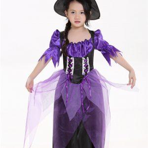 ハロウィン 魔女 コスプレ服 cosplay 巫女 舞台服 子供 可愛い-Halloween-trw0725-0484