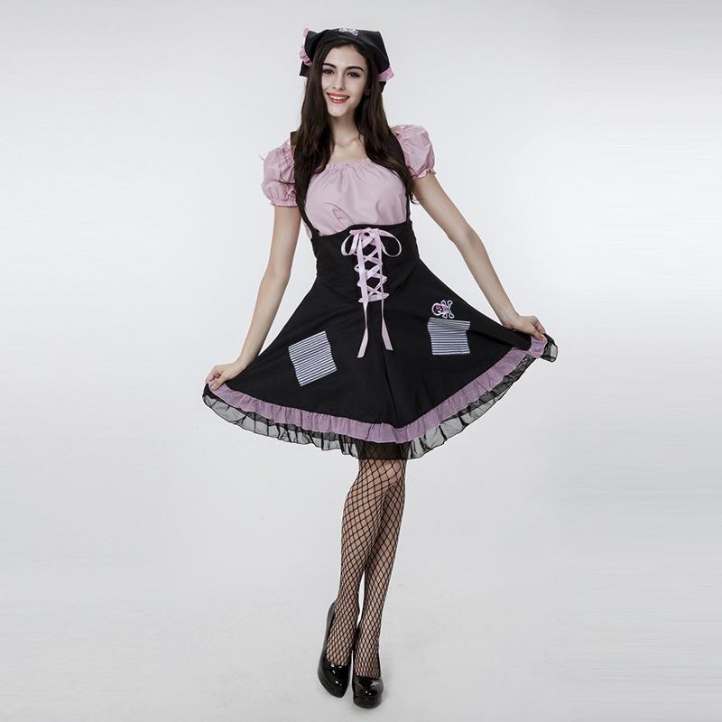 e8a99274a64a1 ピンク ドレス ハロウィン メイド パイレーツ 撮影用 仮装パーティー コスプレ衣装-Halloween-trw0725-