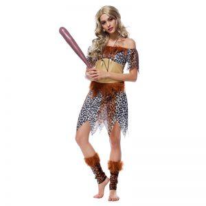ハロウィン 野蛮人 インディアン風 先住民人 大人用 舞台衣装 余興 コスチューム シスター風 新品入荷 -Halloween-trw0725-0493