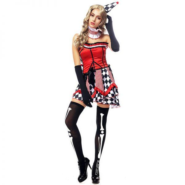 ハロウィン ピエロ 女性用 コスチューム サーカス コスチュームコスプレ-Halloween-trw0725-0510 1