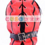 特別な赤いオープンフェイス ラテックス フード―taitsu-tights0888 2