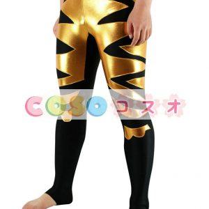 スパッツ コスチューム(金黒) レスリング―taitsu-tights1001