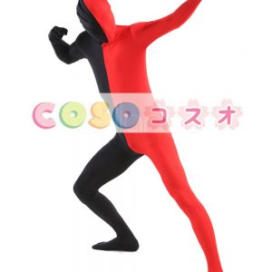 全身タイツ コスチューム カラーブロック ボディースーツ ユニセックス―taitsu-tights1085