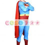 全身タイツ ブルー 大人用 ユニセックス スーパーマン ―taitsu-tights1166 2