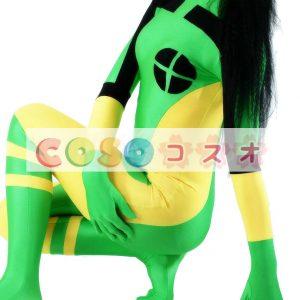 全身タイツ 配色 大人用 ユニセックス カラーブロック コスチューム ―taitsu-tights1168