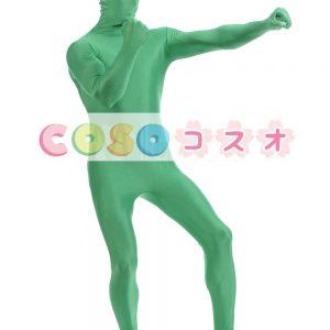 全身タイツ グリーン ライクラ・スパンデックス 大人用 ―taitsu-tights1231