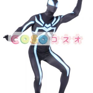 全身タイツ ブラック 大人用 ユニセックス スパイダーマン ―taitsu-tights1326