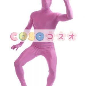 全身タイツ ピンク ライクラ・スパンデックス 大人用 ―taitsu-tights1342