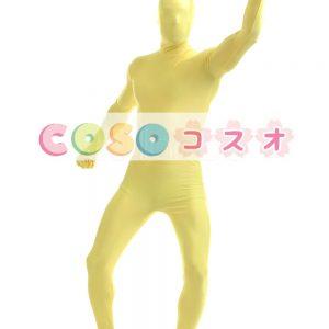 全身タイツ イエロー ライクラ・スパンデックス 大人用 ―taitsu-tights1368
