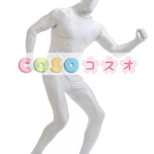 全身タイツ ホワイト ライクラ・スパンデックス 大人用 ―taitsu-tights1370