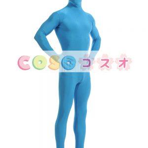 全身タイツ ブルー ライクラ・スパンデックス 大人用 ―taitsu-tights1483