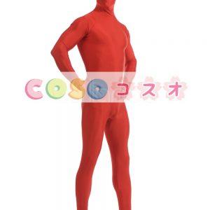 全身タイツ レッド ライクラ・スパンデックス 大人用 ―taitsu-tights1487