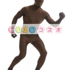 全身タイツ ダークブラウン ライクラ・スパンデックス 大人用 ―taitsu-tights1490