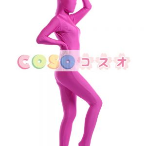 全身タイツ ピンク ライクラ・スパンデックス 大人用 ―taitsu-tights0216