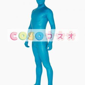 全身タイツ ブルー 男女兼用 大人用 コスプレ―taitsu-tights0232