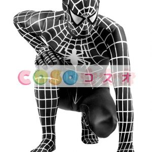 全身タイツスパイダーマンコスプレ衣装(黒)―taitsu-tights0345