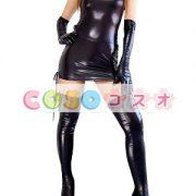 コスチューム衣装 メタリック セクシー オーダーメイド可能 ブラック ―taitsu-tights0411 2