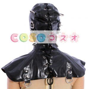 優れた黒開く目ラテックス フード―taitsu-tights0415