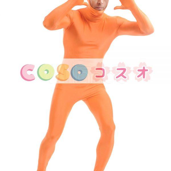 オレンジのユニセックス ライクラ スパンデックス全身タイツ スーツ―taitsu-tights0509