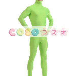 緑のユニセックス ライクラ スパンデックス全身タイツ スーツ―taitsu-tights0531