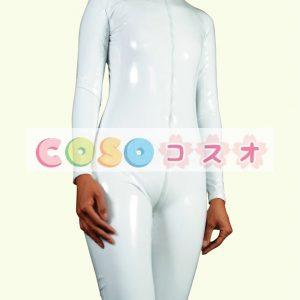 全身タイツ,PVC ホワイト ユニセックス 大人用 コスチューム コスプレ―taitsu-tights0547