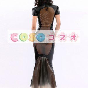 コスチューム衣装 ワンピース 新作 ラテックス ブラック 大人用 女性用 ―taitsu-tights0046