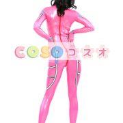 コスチューム衣装 全身タイツ メタリック ピンク レオタード ジャンプスーツ 大人用 女性用 ―taitsu-tights0144 2